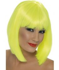 Glam Neon Wig (Yellow)